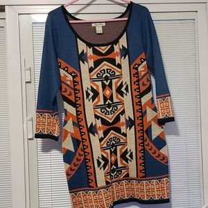 Flying Tomato Aztec Sweater Dress